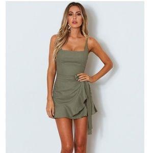 NWT  Bet On Me Mini Dress Khaki